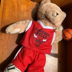 Chicago Bulls Plush Basketball Teddy Bear 2014 NBA